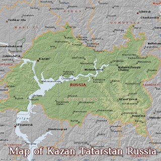Map of Tatarstan Republic of Russia